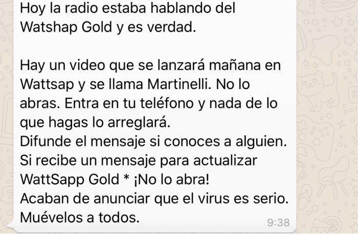 bulos de WhatsApp Gold