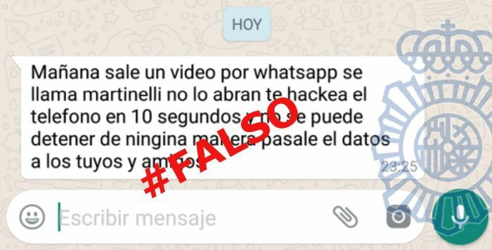 bulos de WhatsApp Gold y Martinelli