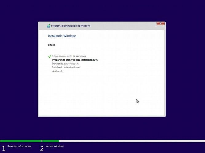Instalar Windows 10 - instalación