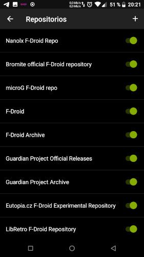 F-Droid Repositorios