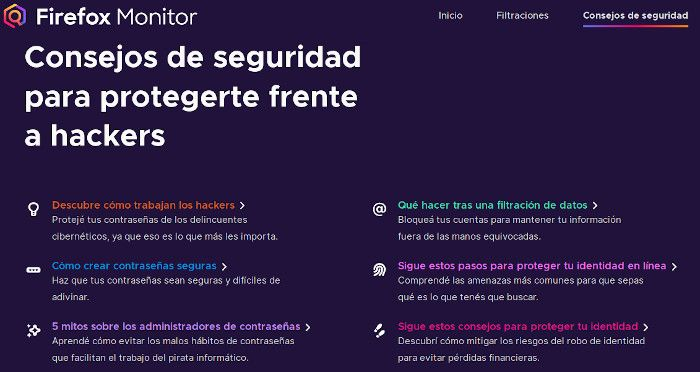 Firefox Monitor Cuentas